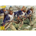 Napoleonic French Fusiliers 48 figures. Post 1812 French line fusiliers in campaign dress. HAT Industrie HAT8041