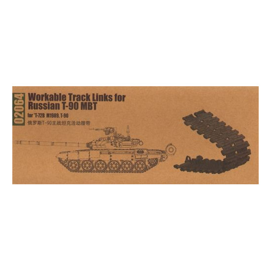 Neu Trumpeter 02064-1:35 Workable Track Links f.Russian T-90 MBT