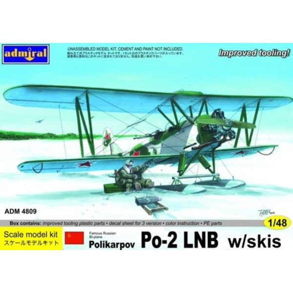 Polikarpov Po- 2LB with skis. Decals 3 x Russian aircraft