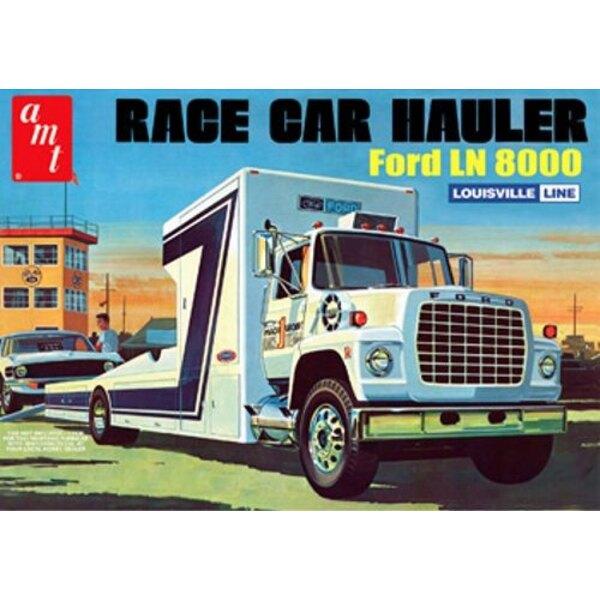 Ford LN 8000 Race Car Hauler Model Kit