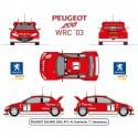Peugeot 206 WRC 2003 Kit 6 Heller HELL50752