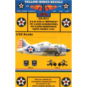decals brewster f2a-2 buffalo (3) 1418 2-f-13 5th section leader vf-2 u.s.s. lexington 1940 - 1432 3