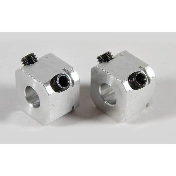 Square aluminum wheel 14mm/M6 (2p)