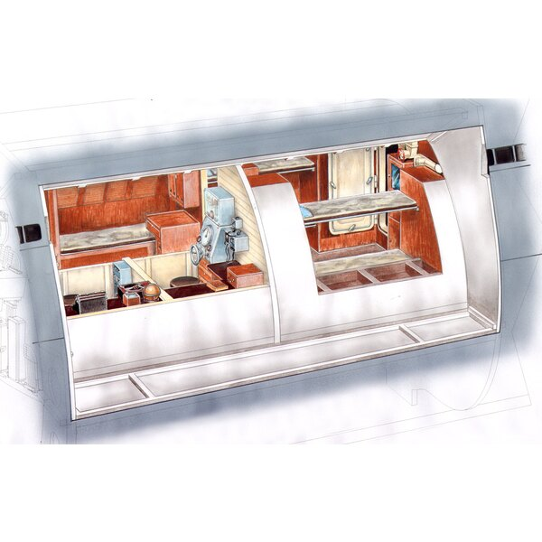 Type IXC captain and officers ward room.This highly detailed set covers the Captain£ - £ s and officers- ward rooms.Set co