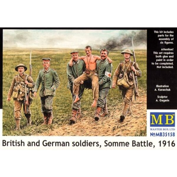 British and German soldiers, (WWI) Somme Battle, 1916