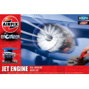 Jet Engine. with spinning turbo fans and a variable speed control. This real working model kit is a brilliant way to understand