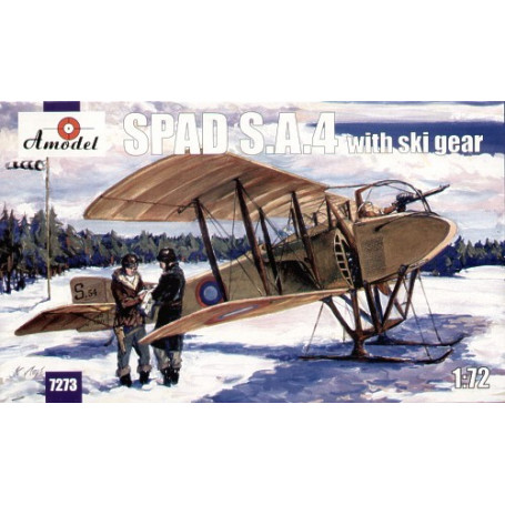 Spad S.A.4 with skis