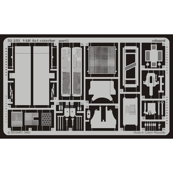 VAB 4 x 4 exterior (designed to be assembled with model kits from Heller)