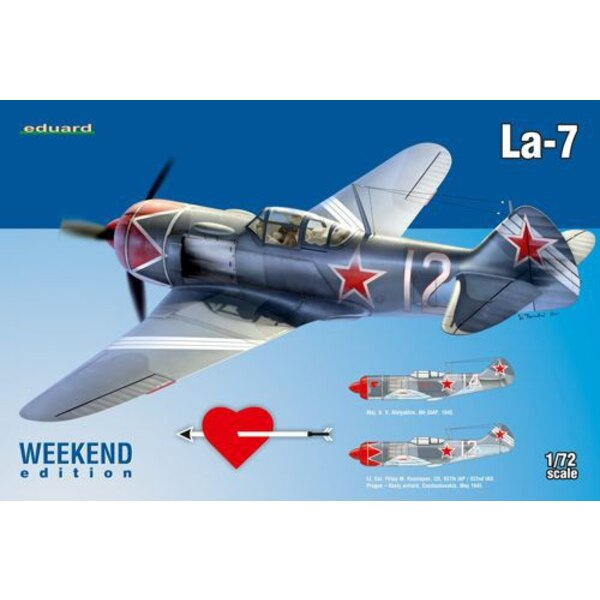 Lavochkin La-7 Series Weekednd Eduard plastic, decals printed by Eduard, 2 marking options. Superfabric seatbelts included. NO P