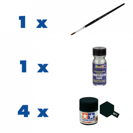 ACCESSORY KIT (4 SELECTED PAINTS, BRUSH, GLUE)