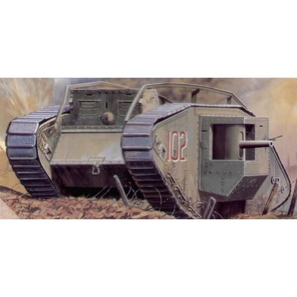 Mk.IV ′Male′ WWI heavy tank Decals: British/captured Germ