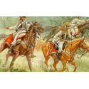 napoleonic austrian cuirassiers. 12 mounted figures with helmets and front cuirasses only.