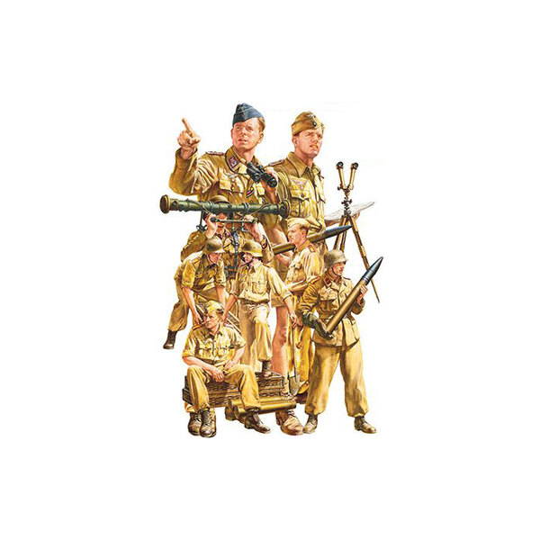 German Afrika Korps Luftwaffe Artillery crew set