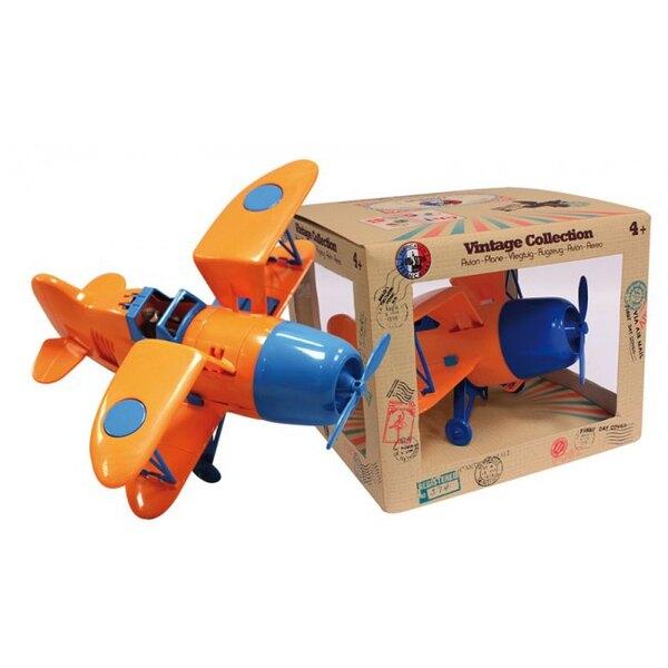 Biplane Orange / Blue