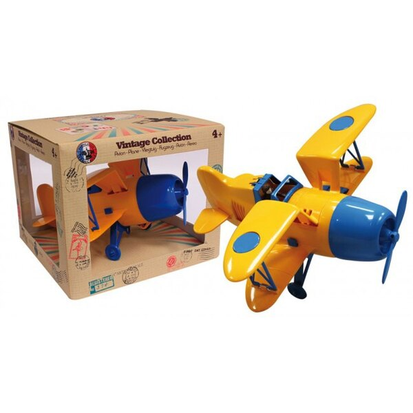 Biplane Yellow / Blue