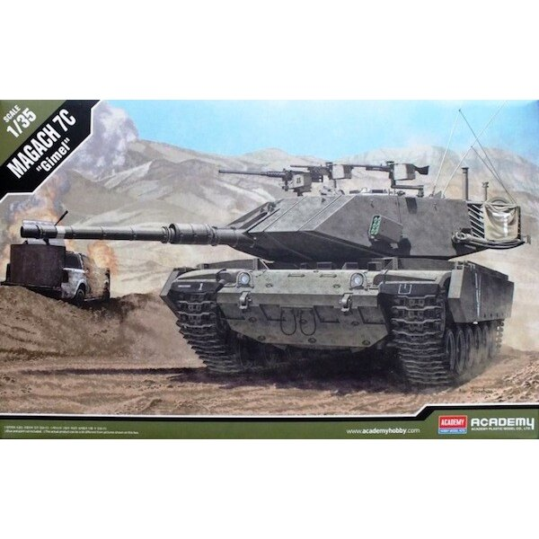 Magach 7C Modernised Israeli Army tank (variant of M60)&bullet - New turret, large external storage basket, passive armour arra