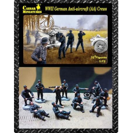 Caesar Miniatures 1//72 089 WWII German Anti-Aircraft 32 Figures AA Gun Crews