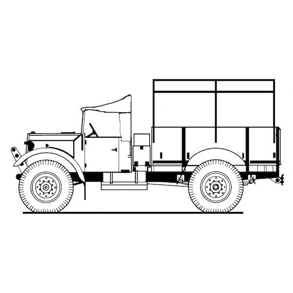 Fordson WOT.2H 15cwt GS Truck -Widely used by the Allied Forces, this last in the WOT.2 series features a steel body and full-wi