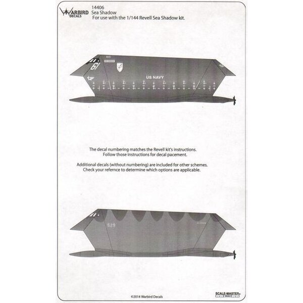 Lockheed Sea Shadow Stealth Boat (designed to be used with Revell kits)