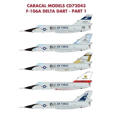 Caracal Models 1//72 72043 x F-106A Delta Dart Part 1 decals