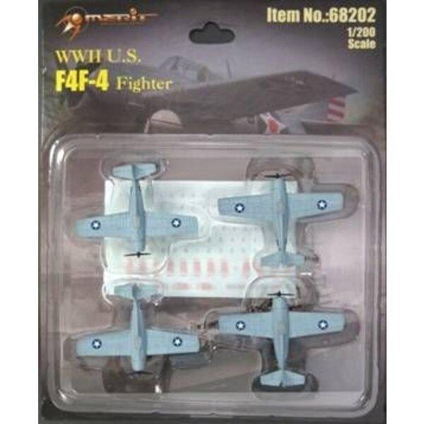 Grumman F4F-4 Wildcat (qty 4) (built & painted),