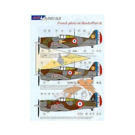 AML Models Decals 1//48 CURTISS HAWK 75 Fighter Czech Pilots Battle of France