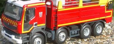 Die-cast fire trucks